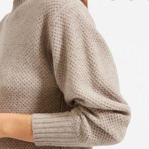 CO Beige Silk Blend POP Over Sweater NWOT Size M